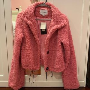 Hot Pink Teddy Jacket